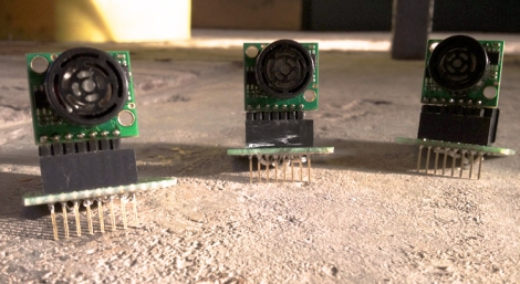 Sonars mounted on ethernet breakout board